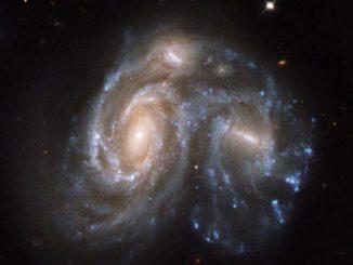 Galaxias chocan en el espacio